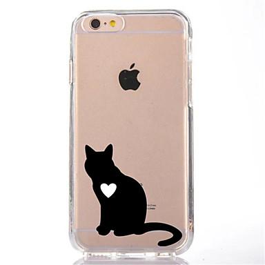 Için Şeffaf Temalı Pouzdro Arka Kılıf Pouzdro Kedi Yumuşak TPU için AppleiPhone 7 Plus iPhone 7 iPhone 6s Plus iPhone 6 Plus iPhone 6s