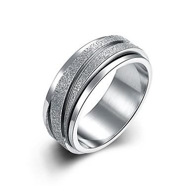 Κρίκοι Καθημερινά Causal Κοσμήματα Ανοξείδωτο Ατσάλι Επάργυρο Δαχτυλίδι 1pc,6 7 8 9 Ασημί