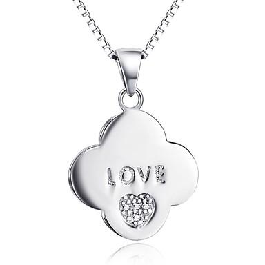 Kolye Uçları Heart Shape Som Gümüş Simüle Elmas Lüks Temel Aşk Mücevher Uyumluluk Günlük