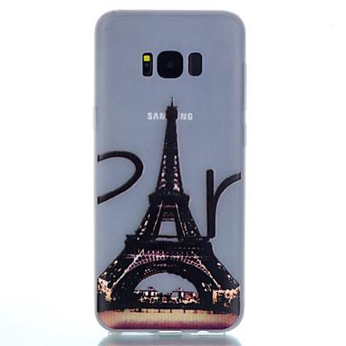 Pouzdro Uyumluluk Samsung Galaxy S8 Plus S8 Karanlıkta Parlayan Temalı Arka Kılıf Eiffel Kulesi Yumuşak TPU için S8 S8 Plus S7 edge S7 S6