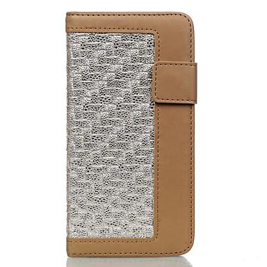 Για Θήκη καρτών Προστασία από τη σκόνη με βάση στήριξης tok Πλήρης κάλυψη tok Μονόχρωμη Σκληρή Συνθετικό δέρμα για AppleiPhone 7 Plus