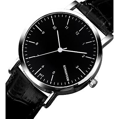 Męskie Modny Zegarek na nadgarstek Kwarcowy Skóra Pasmo Nowoczesne Na co dzień Czarny