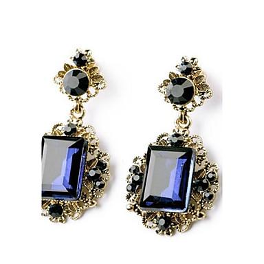 Kolczyki wiszące Syntetyczny Sapphire Synthetic Emerald Syntetyczne kamienie szlachetne Szmaragdowy Biżuteria Na Ślub Impreza