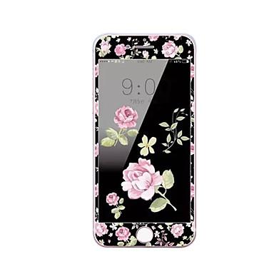 Yumuşak kenar tam ekran kapsama ön ekran koruyucusu karikatür çiçek desenli elma iphone 7 artı 5.5 inç temperli cam ekran koruyucusu için