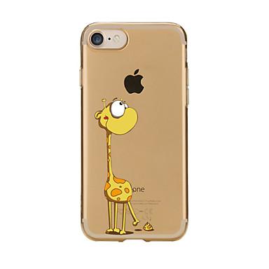 Pouzdro Uyumluluk iPhone 7 Plus iPhone 7 iPhone 6s Plus iPhone 6 Plus iPhone 6s iPhone 6 iPhone 5 iPhone 5C Apple Şeffaf Temalı Arka Kapak