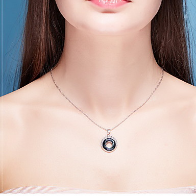 Coliere cu Pandativ Cristal Round Shape Cristal Stil Atârnat De Bază Bijuterii Pentru Zilnic Casual
