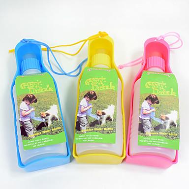 L Kedi Köpek Kaseler ve Su Şişeleri Evcil Hayvanlar Kaseler ve Besleme Taşınabilir Sarı Kırmzı Mavi