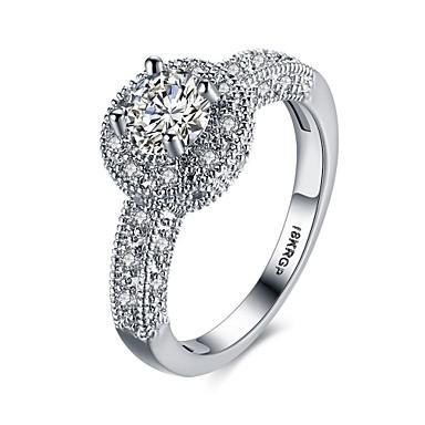 Damen Ring Kubikzirkonia Personalisiert Blumig Geometrisch Kreisförmiges Einzigartiges Design Klassisch Retro Strass Böhmische