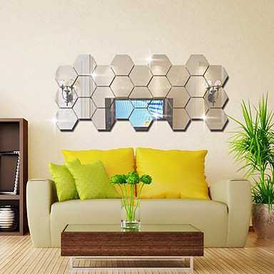Καθρέφτες Σχήματα Αφηρημένο Αυτοκολλητα ΤΟΙΧΟΥ Κρυστάλλινα αυτοκόλλητα τοίχου Αυτοκόλλητα Τοίχου Καθρέφτης Διακοσμητικά αυτοκόλλητα τοίχου