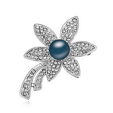 Damskie Broszki Perła Natura Perłowy Stop Flower Shape Biżuteria Na Codzienny