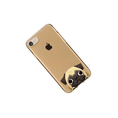 cagnolino per iPhone Con 05608570 TPU Per Plus retro 7 Custodia disegno Plus Fantasia iPhone Morbido Apple iPhone 7 7 iPhone Transparente Per 7 77TgAwqaO