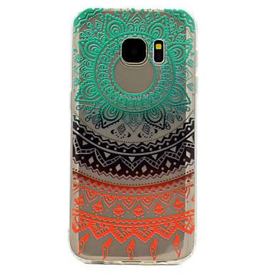 غطاء من أجل Samsung Galaxy S8 Plus S8 شفاف نموذج غطاء خلفي الطباعة الدانتيل ناعم TPU إلى S8 S8 Plus S7 edge S7 S6