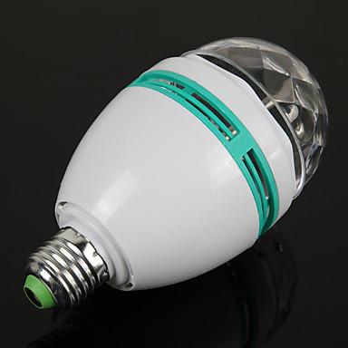 1szt E27 3W kolorowe automatycznego obracania rgb led żarówki lampy światła etapie dyskoteka dla lamp oświetleniowych do dekoracji wnętrz