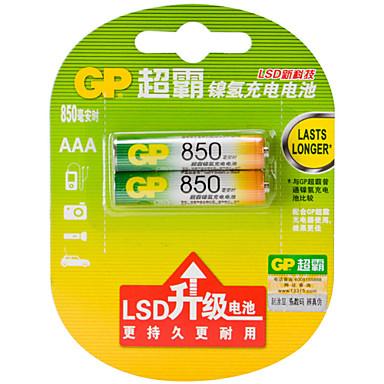 gp gp85aaahc-L2 μπαταρίας μετάλλου νικελίου ΑΑΑ 1.2V 850mah 2 πακέτο