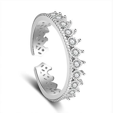 Yüzükler Düğün Parti Özel Anlar Mücevher Platin Kaplama Yüzük 1pc,Ayarlanabilir Gümüş