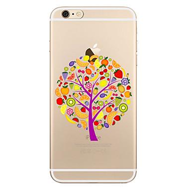 Maska Pentru Apple iPhone X iPhone 8 Plus Transparent Model Carcasă Spate Copac Moale TPU pentru iPhone X iPhone 8 Plus iPhone 8 iPhone 7