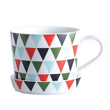 kuzey-avrupa tarzı drinkware, 300 ml basit geometrik desen seramik suyu kahve kupa