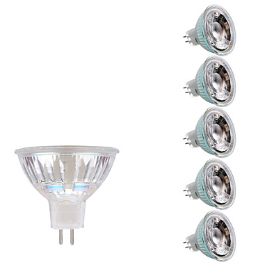 GMY® 6PCS 3W 250lm GU5.3(MR16) LED ضوء سبوت MR16 1 الخرز LED COB أبيض دافئ أبيض كول 12V