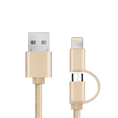 USB 2.0 USB Cable Adapter All-In-1 Braided Cable For iPad Samsung Apple Lenovo Xiaomi HTC Sony iPhone 98 cm Aluminum Nylon