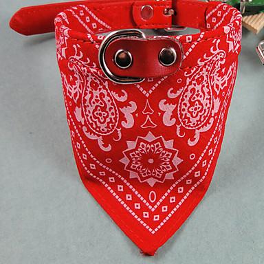 Câine Gulere Ajustabile / Retractabil Dungi Material Textil Rosu Albastru