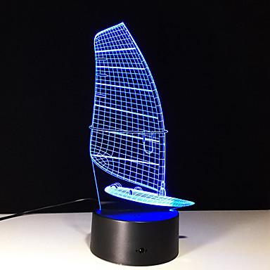 1buc tactil de 7 culori de navigatie a condus lampă 3d lumina de culoare viziune stereo colorat cu gradient acrilic viziune de lumină