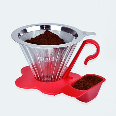 ml Stal nierdzewna Plastic Filtr do kawy , 4 szklanki Drip kawy Producent Wielokrotnego użytku