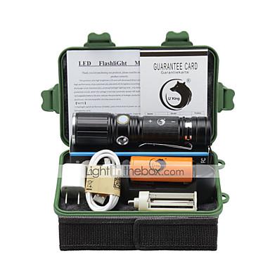 U'King Lanterne LED LED 2000 lm 3 Mod Cree XM-L T6 Cu Baterie și Încărcător Zoomable Focalizare Ajustabilă Clip