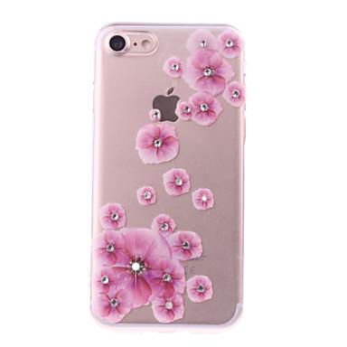 غطاء من أجل Apple iPhone 7 Plus iPhone 7 حجر كريم اصنع بنفسك غطاء خلفي زهور ناعم TPU إلى iPhone 7 Plus iPhone 7 iPhone 6s Plus ايفون 6s