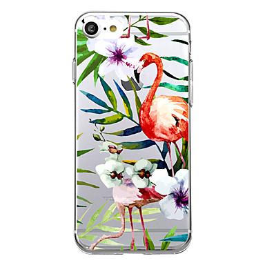 Kılıflar Kapaklar Apple için Arka Kılıf Ultra İnce Şeffaf Flamingo Yumuşak TPU iPhone 7 Plus iPhone 7 iPhone 6s Plus iPhone 6 Plus iPhone
