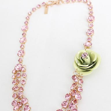 Kadın Tellerinin Kolye Mücevher Flower Shape Cross Shape Mücevher Sentetik Taşlar alaşım Çiçek Stili Çiçekler Çiçekli Moda