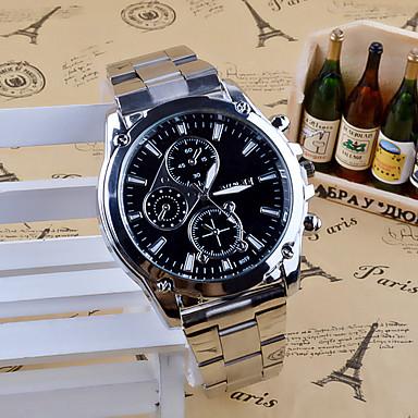 Недорогие Часы на металлическом ремешке-Муж. Наручные часы Кварцевый Нержавеющая сталь Серебристый металл Аналоговый Кулоны На каждый день Мода Нарядные часы - Белый Черный
