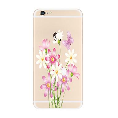 Pouzdro Uyumluluk Apple iPhone X iPhone 8 Plus Şeffaf Temalı Arka Kılıf Çiçek Yumuşak TPU için iPhone X iPhone 8 Plus iPhone 8 iPhone 7