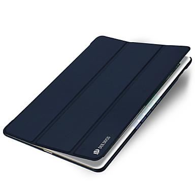 Pouzdro Uyumluluk Apple iPad Mini 4 Satandlı Oto Uyu / Uyan Origami Tam Kaplama Kılıf Tek Renk Sert PU Deri için iPad Mini 4 Apple