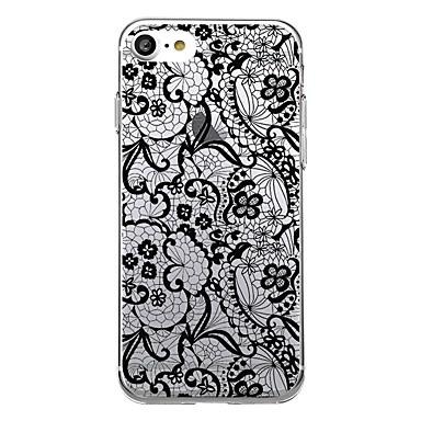 Kılıf Na Apple Ultra cienkie Przezroczyste Wzór Etui na tył Koronka Printing Miękkie TPU na iPhone 7 Plus iPhone 7 iPhone 6s Plus iPhone