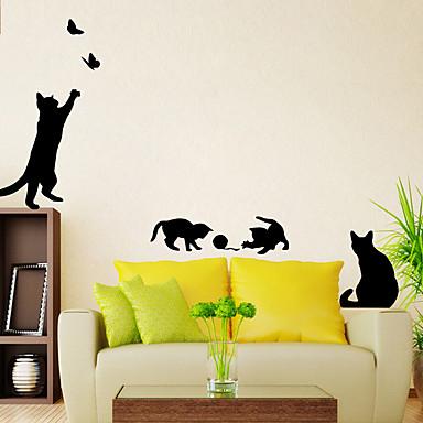 حيوانات أزياء وقت الفراغ ملصقات الحائط لواصق حائط الطائرة لواصق حائط مزخرفة, ورقة تصميم ديكور المنزل جدار مائي جدار