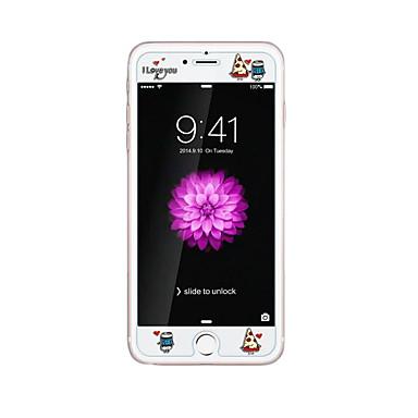 Apple iPhone 6 / 6S 4.7inch szkło hartowane przejrzyste z przodu ekranu ochraniacz wyryć kreskówki wzór blasku w ciemnym ciastem