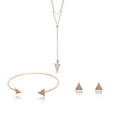 Γυναικεία Σετ Κοσμημάτων Συνθετικό Diamond Ζιρκονίτης Κράμα Taper Shape Φύση αρχική Κοσμήματα Χειροποίητο Πανκ Γάμου Πάρτι Ειδική
