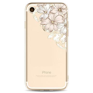 Kılıf Na Apple iPhone X iPhone 8 Plus Wzór Czarne etui Kwiaty Miękkie TPU na iPhone X iPhone 8 Plus iPhone 8 iPhone 7 Plus iPhone 7