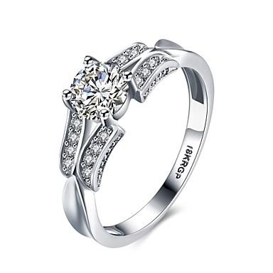 Dames Ring Zirkonia Gepersonaliseerde Bloemen Meetkundig Cirkelvormig ontwerp Uniek ontwerp Klassiek Vintage Tekojalokivi Bohémien