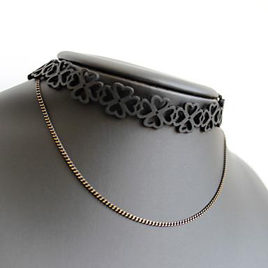 Damskie Naszyjniki choker Biżuteria Biżuteria Stop Unikalny Europejski Modny Osobiste euroamerykańskiej Black Biżuteria NaImpreza