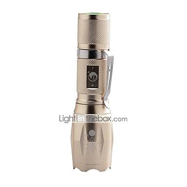 U'King Φακοί LED LED 2000 lm 5 Τρόπος Cree XM-L T6 Zoomable Ρυθμιζόμενη Εστίαση Κλιπ Κατασκήνωση/Πεζοπορία/Εξερεύνηση Σπηλαίων Καθημερινή