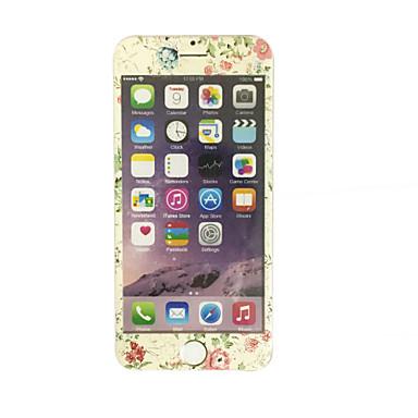 Apple iPhone 6 plus / 6s plus 5,5 cala szkła hartowanego z miękką krawędź pełne pokrycie ekranu ochraniacz ekranu przodu wzór kwiatów