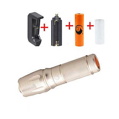 U'King LED Fenerler LED 2000 lm 5 Kip Cree XM-L T6 Pil ve Şarj Aleti ile Zoomable Ayarlanabilir Fokus Kamp/Yürüyüş/Mağaracılık Günlük