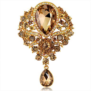 Broszki Oliwin Rhinestone Okragły Unikalny Modny Kamień szlachetny Biżuteria Na Ślub Impreza Codzienny