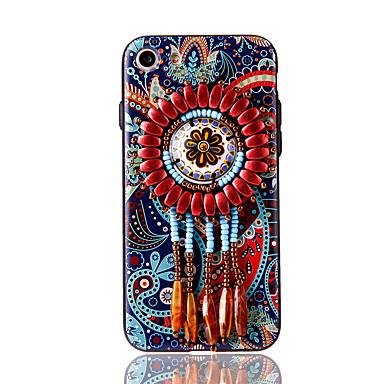 Varten Paljetti Kuvio DIY Etui Takakuori Etui Kukka Pehmeä TPU varten AppleiPhone 7 Plus iPhone 7 iPhone 6s Plus iPhone 6 Plus iPhone 6s