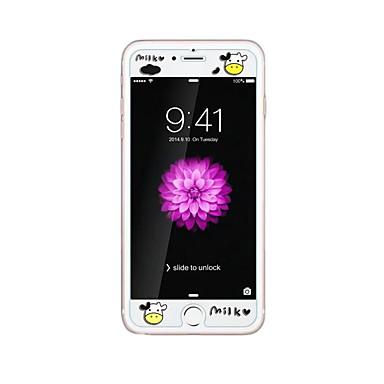 Karanlık inek kabartma karikatür desen ışıltı ile apple iphone 6 / 6s artı 5.5inch temperli cam şeffaf ön ekran koruyucusu için