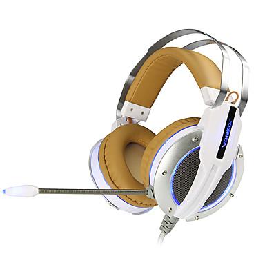 xiberia V11 συν ακουστικά για παιχνίδια οδήγησε φως του υπολογιστή σούπερ μπάσο περικεφαλαία δόνηση ήχο και λάμψη pc ακουστικά gamer με