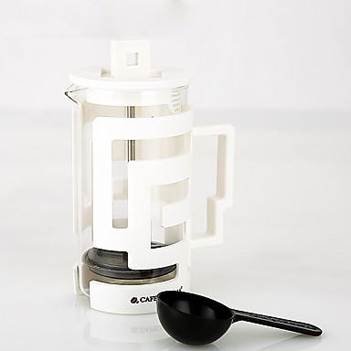 350 ml Plastic Lasi French Press , 3 kuppia Keittää kahvia valmistaja Uudelleenkäytettävä