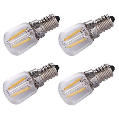 4szt 1.5W 100 lm E14 Żarówka dekoracyjna LED 2 Diody lED COB Dekoracyjna Ciepła biel V