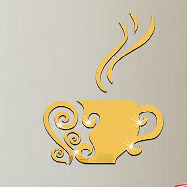 Lustra Moda Kształty Naklejki Naklejki ścienne 3D Naklejki ścienne: lustro Dekoracyjne naklejki ścienne, Winyl Dekoracja domowa Naklejka